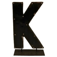 Moonshine Metal Letters K on a Stand Letter Block