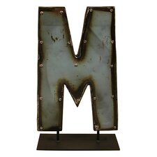 Moonshine Metal Letters M on a Stand Letter Block