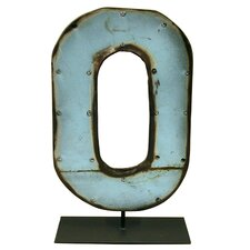 Moonshine Metal Letters O on a Stand Letter Block