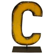 Moonshine Metal Letters C on a Stand Letter Block