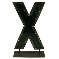 Moonshine Metal Letters X on a Stand Letter Block