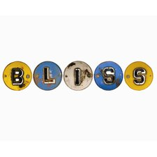 "<strong>Groovystuff</strong> Moonshine ""BLISS"" Letters 5 Piece Wall Décor Set"