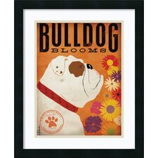 'Bulldog Blooms' by Stephen Fowler Framed Graphic Art