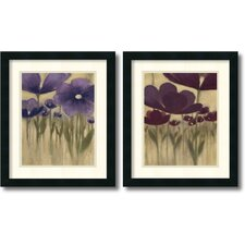 <strong>Amanti Art</strong> Summer Blooms 2 Piece Framed Print Set By Vittorio Maria