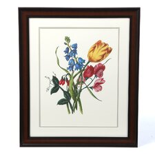 'Bouquet with Tulipa Gesneriana' by Jacob Lawrence Framed Painting Print