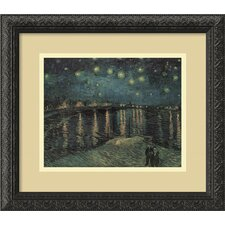 'Starlight Over the Rhone' by Vincent Van Gogh Framed Painting Print