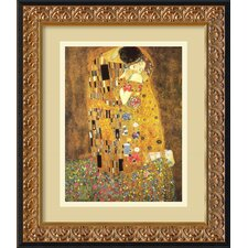 'The Kiss (Le Baiser/Il Baccio)' by Gustav Klimt Framed Painting Print