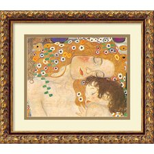 'Three Ages of Woman-Mother and Child (Detail IV)' by Gustav Klimt Framed Painting Print