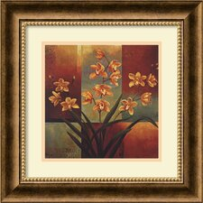'Orange Orchid' by Jill Deveraux Framed Painting Print