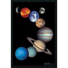 NASA Solar System Framed Graphic Art