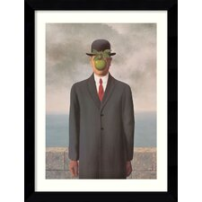 'Le Fils de l'Homme' (Son of Man) by Rene Magritte Framed Photographic Print
