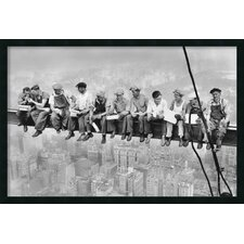 New York - Lunch Atop a Skyscraper Framed Photographic Print