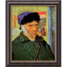 'Self Portrait with Bandaged Ear, 1889' by Vincent Van Gogh Framed Painting Print