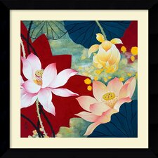 'Lotus Dream II' by Hong Mi Lim Framed Painting Print