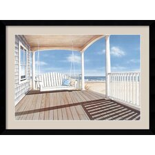 'The Porch Swing' by Daniel Pollera Framed Painting Print