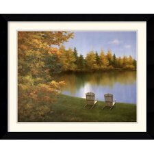 'Forever Autumn' by Diane Romanello Framed Painting Print