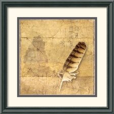 'Owl Feather' by Susan Friedman Vintage Framed Photographic Print