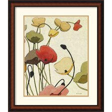 'Pavots Ondule II' by Shirley Novak Framed Painting Print