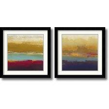 'Domain Two' by Craig Alan 2 Piece Framed Painting Print Set