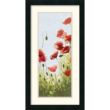 'Mountain Poppies II' by Shirley Novak Framed Painting Print