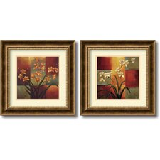 'Orchids' by Jill Deveraux 2 Piece Framed Painting Print Set (Set of 2)