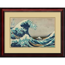 'The Great Wave of The Coast of Kanagawa' by Katsushika Hokusai Framed Painting Print