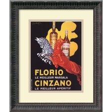 'Florio e Cinzano (Ca. 1930)' by Leonetto Cappiello Framed Vintage Advertisement