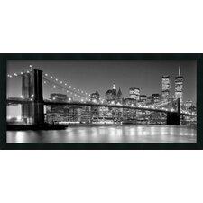 'Brooklyn Bridge' by Henri Silberman Framed Art Print