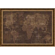 'The World' by Luke Wilson Framed Art Print