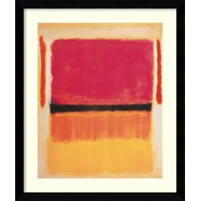 'Untitled (Violet, Black, Orange, Yellow on White and Red), 1949' by Mark Rothko Framed Painting Print