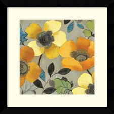 'Yellow and Orange Poppies II' by Allison Pearce Framed Painting Print