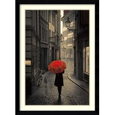 'Red Rain' by Stefano Corso Framed Art Print