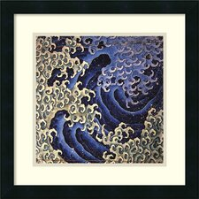 'Masculine Wave' by Katsushika Hokusai Framed Painting Print