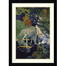 'The White Horse (Le Cheval Blanc), 1898' by Paul Gauguin Framed Art Print