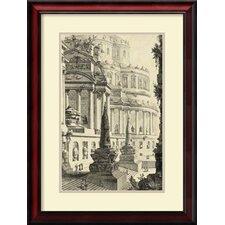 'Vintage Roman Ruins III' by Giovanni Battista Piranesi Framed Art Print