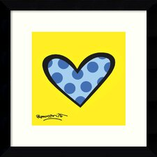 'Bee Bop Love' by Romero Britto Framed Graphic Art