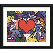 'Heart Kids' by Romero Britto Framed Art Print