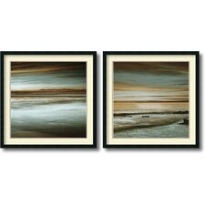 'Lowtide/Hightide' by John Seba 2 Piece Framed Art Print Set