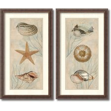 'Ocean Companions' by Deborah Devellier 2 Piece Framed Art Print Set