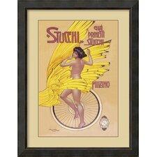 'Stucchi Bicycles' by Gian Emilio Malerba Framed Art Print