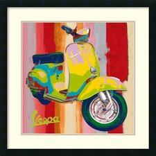 'Pop Vespa I' by Valerio Salvini Framed Art Print