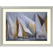 'Ocean Regatta' by Maria Antonia Torres Framed Art Print