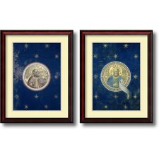 'Prophets' by Giotto di Bondone 2 Piece Framed Art Print Set