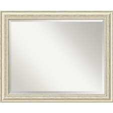 <strong>Amanti Art</strong> Country Large Mirror in Rustic Whitewash