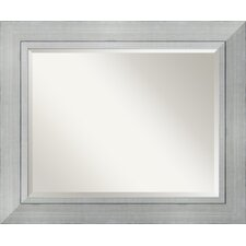 <strong>Amanti Art</strong> Romano Large Mirror in Burnished Silver