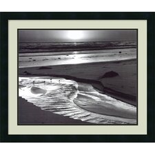 'Birds on a Beach, Evening, 1966' by Ansel Adams Framed Photographic Print