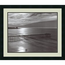 'The Scripps Pier, 1966 - Fiat Lux' by Ansel Adams Framed Photographic Print