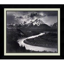 'The Tetons and the Snake River, Wyoming, 1942' by Ansel Adams Framed Photographic Print