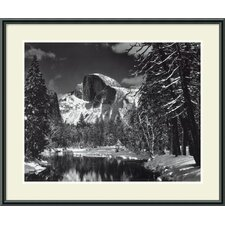 'Half Dome, Winter - Yosemite National Park, 1938' by Ansel Adams Framed Photographic Print