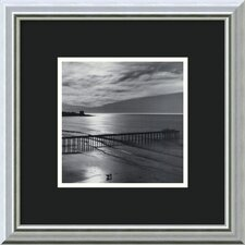 "The Scripps Pier, 1966 - Fiat Lux by Ansel Adams, Framed Print Art - 15.86"" x 15.86"""